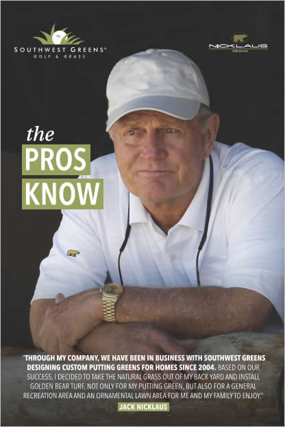 Southwest Greens Endorsed by Jack Nicklaus