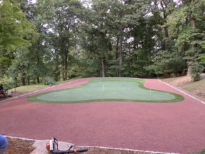 Villanova Conversion of Old Tennis Court to Short Game Practice Area